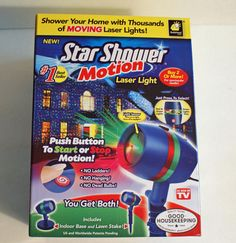 Star Shower Motion Outdoor Laser Christmas Lights Projector As Seen On Tv New Starshower Star Shower Motion Star Shower Laser Light Star Shower