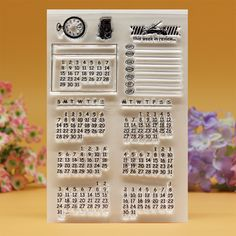 Clear stamp Scrapbook DIY photo cards account rubber stamp clear stamp transparent stamp Calendar weekly in review 10x15cm #>=#>=#>=#>=#> Click on the pin to check out discount price, color, size, shipping, etc. Save and like it!