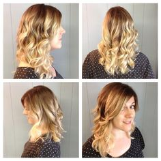 Blonde ombré hair color front, back and sides. #haircolor #ombre #redken