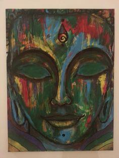 """via lotusunfurled tumblr: """"Anuttara"""" Acrylic Paint on Canvas"""