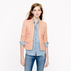 Coral tweed blazer from J.Crew