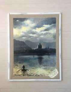 """Lake Como, Elda Frangi, Acrylic, 18.52"""" x 14.18"""""""