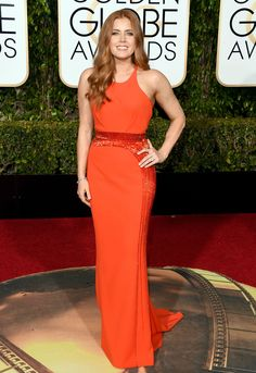 Amy Adams - golden globes 2016: red carpet