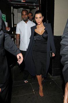 Kim Kardashian wearing Tom Ford Spring 2012 Sandals.
