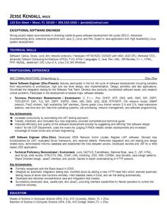 software engineer resume template for word httpwwwresumecareerinfo