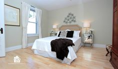 Home Staging in High Park Toronto~ master bedroom staging to appeal to the target buyer.