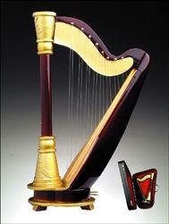 Harp Miniature Instrument #hiddentreasuresdecorandmore