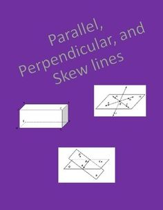 Skew Lines Definition Math Is Fun Worksheets and The o'j...