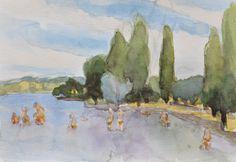 Anthony Lombardi  Bolsena Lake 01 watercolour on paper 2016 26 x18 cm.
