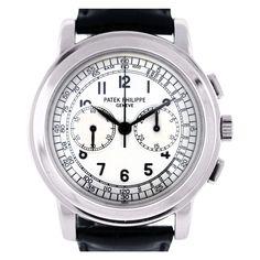Patek Philippe White Gold Chronograph Wristwatch Ref 5070G
