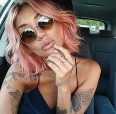 #peach #pink #hair More