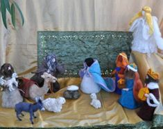 Artículos similares a Needle Felted- ESSENTIAL Nativity set- Holy family- Blue Holy family-Mary and Joseph-Wise men-Waldorf- Ornament- Baby Jesus-Christmas en Etsy Needle Felted Animals, Felt Animals, Needle Felting, Tim Holtz, Stuffed Animals, Stampin Up, Funny Gifts For Friends, Worship Jesus, Felt Gifts