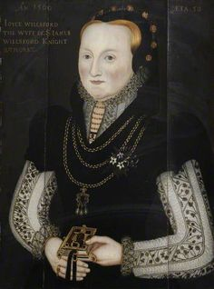 Joyce Wilford (d.1580), Wife of Sir James Wilford (d.1550) English School, 1566 - Corpus Christi college
