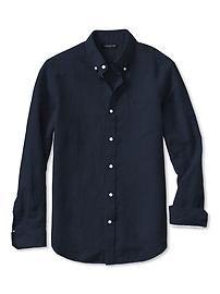 Slim-Fit Linen/Cotton Button-Down Shirt 70$
