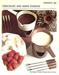 Chocolate and White Fondues