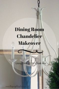 My dining room chandelier makeover only took one afternoon! Come see how I transformed my oil rubbed bronze light fixture that now brightens up the room.