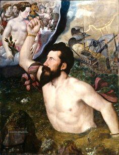 Hans Eworth - An Allegorical Portrait of Sir John Luttrell (1550).