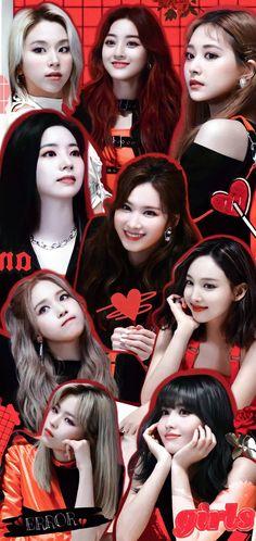 Bts Twice, Twice Kpop, Collages, My Girl, Cool Girl, Twice Photoshoot, Cute Lockscreens, Twice Fanart, Twice Album