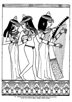 Egyptian coloring pages Tutankhamun
