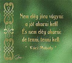 Szép idézetek, bölcsességek - Márta képes gyűjteményéből: Nem elég jóra vágyni:   a jót akarni kell!   És ne...