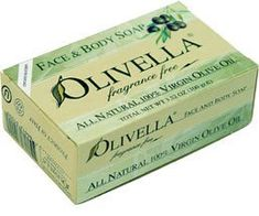 Olivella Face and Body Soap, Fragrance Free, All-natural 100% Virgin Olive Oil From Italy, 3.52-oz Bars (Pack of 12) by Olivella. $19.99. Serving Size: 3.52 Ounces Bar. All Natural 100% Virgin Olive Oil Face and Body Soap Olivella all Natural Fragrance Free bar soap is specially formulated with our patented technology in order to treat your skin with the natural vitamins, antioxidants, and anti-aging properties found in Virgin Olive Oil. While preserving these preci...