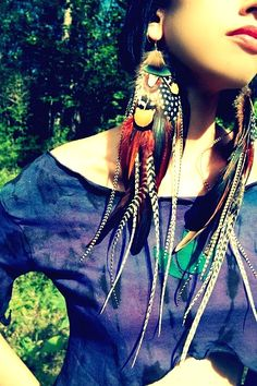 Bold Feathers Earrings