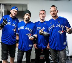 "Volbeat on Instagram: ""tried to be the first to repost this haha cause I'm always too late at this shit They all look so handsome in their baseball jerseys!…"""