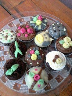 Marzipan cupcakes <3