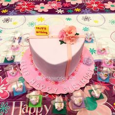 Our miniature birthday cake was made by another bakery and it makes our cake even smaller!