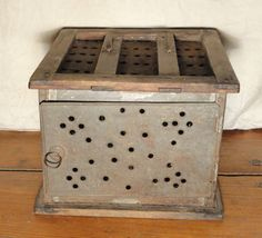 18th Century Tin Foot warmer / Foot stove to keep feet warm on those long carriage rides in the cold.