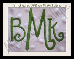 AKDesigns Boutique Machine Embroidery - No 1344 Swirly 3 Letter Monogram Machine Embroidery Designs 3 inch and 1.7 inch high, $7.20 (http://www.akdesignsboutique.com/no-1344-swirly-3-letter-monogram-machine-embroidery-designs-3-inch-and-1-7-inch-high/)