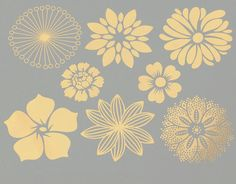 Large Flowers Ceramic Decals Glass Decals or by MilestoneDecalArt
