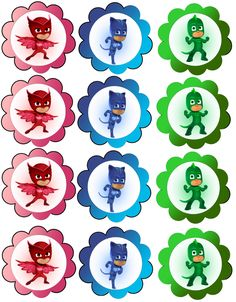 http://daisycelebrates.blogspot.com/2016/02/pj-masks-birthday-party-printable-files.html