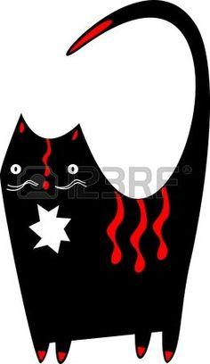 Divertente gatto nero