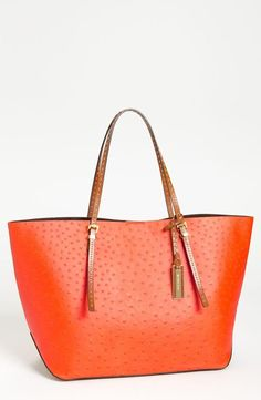 Michael Kors embossed leather tote.