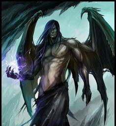 Demon by Sandara - demon - Art of Fantasy Dark Fantasy Art, Fantasy Artwork, Fantasy Kunst, Fantasy Male, Fantasy World, Dark Art, Demon Artwork, Male Angels, Angels And Demons