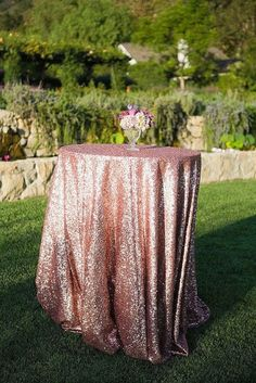 cake table and head table only?? Sequin Tablecloth