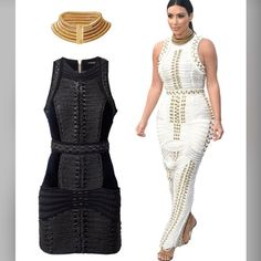 Balmain X H&M Black Dress/ with reciept Brand new with tags. Sold out everywhere. Size 4. Kim Kardashian wore the white long dress to this one. In black and the same design just short version to it. 100% Authentic. WOULD LIKE TO SELL ASAP. MAKE ME A REASONABLE OFFER THROUGH THE OFFER BUTTON. THAT I CAN'T REFUSE! OR TRADE for Louis Vuitton or Chanel bag. BALMAIN x H&M. Short, fitted dress in cotton velvet with braided details and front pockets. Chunky, gold-colored, full-length two-way zip at…