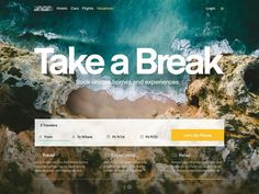 Travel Site - Landing designed by Eddie Lobanovskiy for unfold . Connect with them on Dribbble; Travel Website Design, Travel Design, Design Lab, Flat Design, App Design, Maquette Site Web, Best Travel Websites, Beach Trip, Beach Travel
