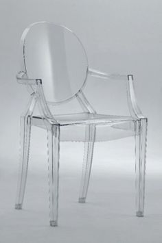 Clear Acrylic Ghost Arm Chair for desk next to bed: $140