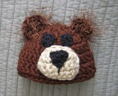 Baby Bear Hat FREE pattern. Oh this is delicious! Thanks so xox