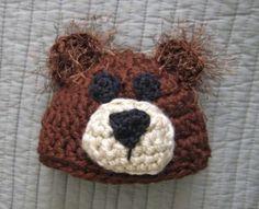 Bear Hat - free crochet pattern