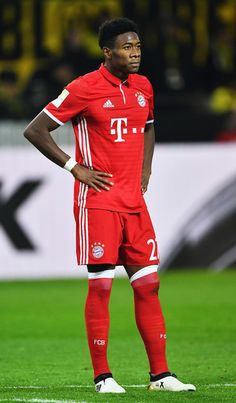 David Alaba of Muenchen looks dejected during the Bundesliga match between Borussia Dortmund and Bayern Muenchen at Signal Iduna Park on November 19, 2016 in Dortmund, Germany.