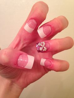 I love doing nails! And I love bows and sparkles