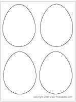 small easter egg template - free printable circle templates large and small stencils
