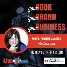 Listen to Your Book, Your Brand, Your Business on W4CY Radio with Daria Anne, Mondays at 5 PM Eastern. Discover how to leverage the power of books for greater success.