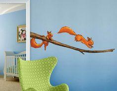 Eichhörnchen Wand Tattoos von Joëlle Tourlonias
