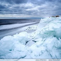 Baltic Sea at winter, Latvia