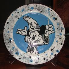 Mickey Mouse plate painted at Pottery Worx