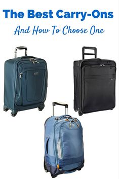 The best carry-on luggage. Plus tips on finding the best carry on suitcase. What you should look for before you purchase luggage. Best Carry On Luggage, Carry On Suitcase, Travel Luggage, Best Carry On Bag, Best Suitcases, To Infinity And Beyond, Travel Kits, Living At Home, Travel Style